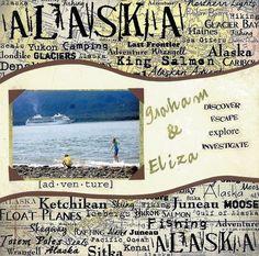 Alaska Scrapbook Page