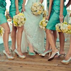 Turquoise Wedding Inspiration #wedding #photography #shoes