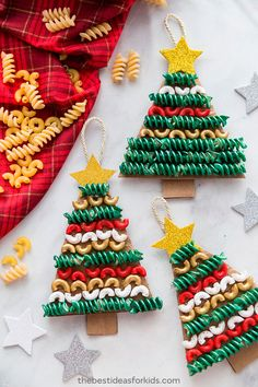 Easy Christmas Crafts For Kids To Make - VCDiy Decor And More - - Easy Christmas crafts for kids to make are a great way to celebrate the holidays with your toddler or kids. These DIY Christmas crafts are great for gifts! Christmas Crafts For Toddlers, Christmas Crafts To Make, Diy Christmas Ornaments, Toddler Crafts, Holiday Crafts, Christmas Christmas, Christmas Games, Christmas Pasta, Summer Crafts