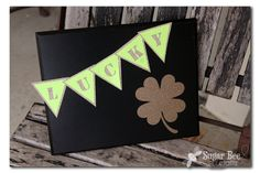 Sugar Bee Crafts: Lucky Banner St Patrick's Day St Pattys, St Patricks Day, Bee Crafts, Paper Crafts, St Patrick's Day Costumes, St Patrick's Day Decorations, Luck Of The Irish, Homemade Cards, Spring Time