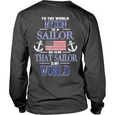 To the world my son is a sailor - Back