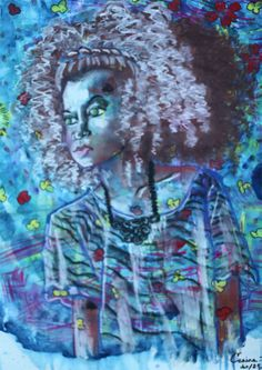 Natural Hair Princess by Ceaira Shell Is in the ArtisTTable's Portrait Exhibition - Eye•Eye•Nose•Mouth