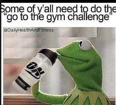 Oh Kermit.... click on the picture for FREE exercise videos, meal recipes, and motivation! #fitnessmotivation #fitnesshumor #fitfam