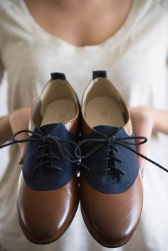 The Navy + Leather Oxfords $52