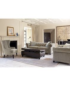 Like the colors & style: Martha Stewart Saybridge Living Room Furniture Collection - Living Room Furniture - furniture - Macy's