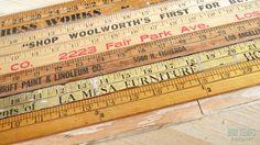 Repurposing Antiques: Yardsticks