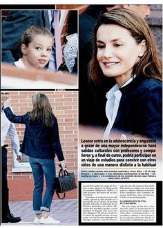 Queen Letizia drove her children, Princess Leonor And Infanta Sofia to their first day at school