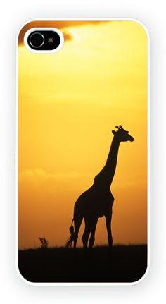 Giraffe Sunset iPhone 5 Mobile Phone Hard Case