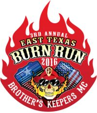 Kilgore, TX - Oct. 1, 2016:  3rd Annual East Texas Burn Run. This is a family oriented event, FREE and open to anyone, whether you ride a bike or not. We will have activities for all ages.