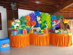 Decoracion De Fiestas Infantiles | Decoracion de Toys Story Toy Story Baby, Toy Story Theme, Festa Toy Story, 1st Birthdays, 3rd Birthday Parties, 2nd Birthday, Woody Birthday, Toy Story Birthday, Baby Shower Themes