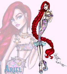 Disney Diva 'Fashionistas' por Hayden Williams: Ariel