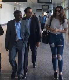 Deepika Padukone at the Bangalore airport as she was returning from IIMB Leadership Summit.  .