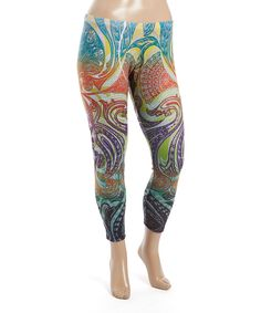Take a look at this Green Paisley Leggings - Plus today!