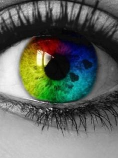 Image shared by thamayra♥. Find images and videos about eyes, eye and rainbow on We Heart It - the app to get lost in what you love. Pretty Eyes, Cool Eyes, Beautiful Eyes, Amazing Eyes, Cool Contacts, Colored Contacts, Eye Contacts, Rainbow Eyes, Rainbow Colors