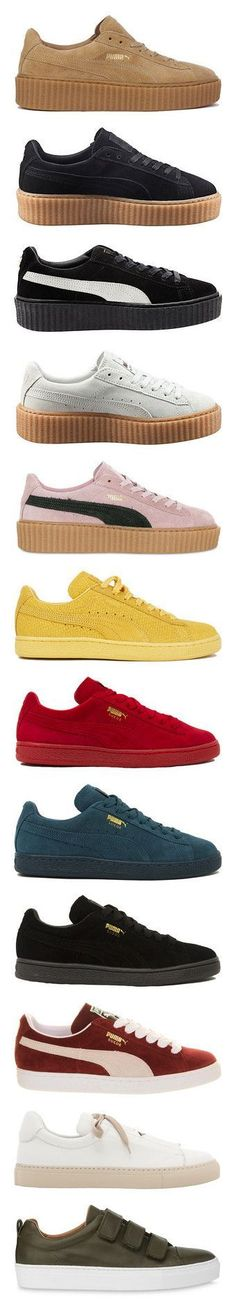 67 Ideas sneakers puma rihanna suede shoes for 2019 Suede Shoes, Lace Up Shoes, Me Too Shoes, Shoe Boots, Shoes Sandals, Shoes Sneakers, Yeezy Shoes, Ugg Boots, Girls Shoes