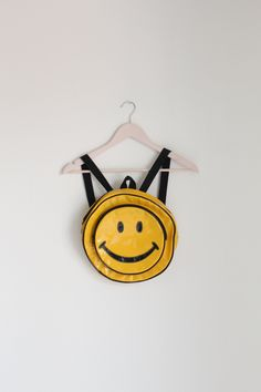 VTG '90s Smiley Face Mini Backpack  #Backpack #Smiley_Face