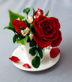 red floral arrangement - cup with roses and lilac, table decorations, artificial flowers day decorations for tables floral arrangements red floral arrangement - cup with roses and lilac, table decorations, artificial flowers Beautiful Rose Flowers, All Flowers, Fresh Flowers, Floral Flowers, Valentine Flower Arrangements, Floral Arrangements, Valentines Flowers, Good Morning Flowers, Good Morning Images