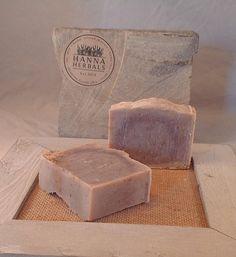 Lavender loofah soap  5 ounce bar  Lavender Exfoliating Soap