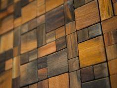 - Artistic View of HGTV Dream Home 2014 on HGTV- wooden tile backsplash- super cool