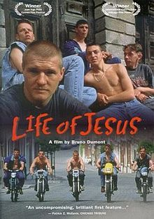 1997 debut feature film by Bruno Dumont. Set in the rural north of France, Freddy an unemployeed epilectic and his gang listlessly patrol the local country on moterbikes. On encountering an Arab boy who has designs on Freddies girlfriend, the hostility is immediate. Filmed with non-professional actors the film examines the pack like behaviour of the group of young man.
