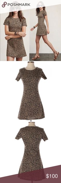 Reformation leopard print mini mars dress XS Reformation leopard print mini mars dress XS. Great condition worn once. Reformation Dresses Mini