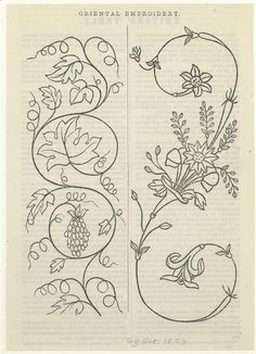 Japanese Embroidery One of over 800000 free digital items from The New York Public Library. Christmas Embroidery Patterns, Hand Embroidery Patterns, Vintage Embroidery, Embroidery Kits, Machine Embroidery, Embroidery Designs, Embroidery Supplies, Sashiko Embroidery, Embroidery Needles