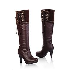 zapatos chuncky plataforma rodilla talón botas altas de las mujeres más colores disponibles – USD $ 34.99