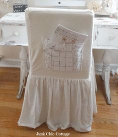 Love The Linen Skirt And Lace Pocket On Back