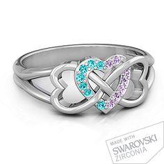 Triple Heart Infinity Ring   Jewlr