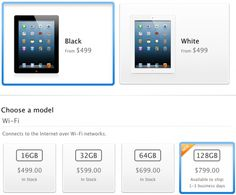 You can now buy a 128GB iPad.