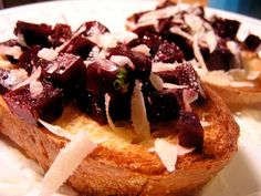 Roasted Beet Bruschetta