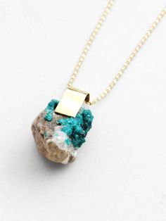dioptase pendant by nallik, available at pour porter