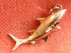 Vintage Sterling Silver Charm Shark