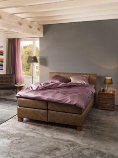 Micasa Schlafzimmer mit Boxspringbett CLASSIC und Nachttisch TREVA Bedroom Minimalist, Hemnes, Design, Furniture, Home Decor, Reading In Bed, Arredamento, Slipcovers, Bedroom