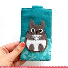 cute kawaii stuff - Felt Totoro iPhone Case