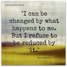 Changed, not reduced
