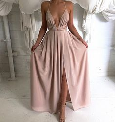 blush pink prom dress,chiffon evening dress,backless prom gowns,women party dress
