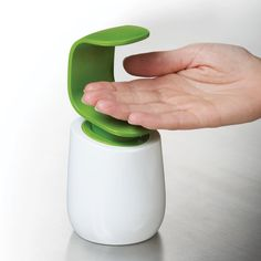 Amazon.com - Joseph Joseph C-Pump Single-Handed Soap Dispenser, White and Green - Countertop Soap Dispensers