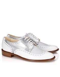 White Leather Joella Brogues Robert Clergerie