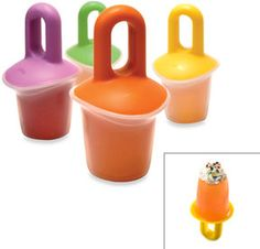 Volcano Ice Pop Molds (Set of 4), BPA Free...cool!