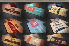 SALE: 6Retro Business Cards 50% Off by Cruzine on Creative Market