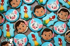 Moana theme for my grand baby's birthday this past weekend🌺🌴💕 . Moana Birthday Party Theme, First Birthday Theme Girl, First Birthday Parties, 3rd Birthday, Birthday Ideas, Fancy Cookies, Royal Icing Cookies, Sugar Cookies, Moana Cookies