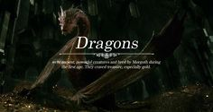 Creatures of Middle-earth: Dragons