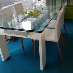 Tavolo enterprise 658 tavoli cristallo allungabili - tavoli | Un ...
