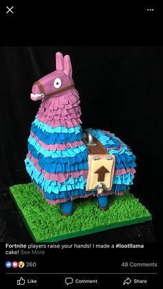 Fortnite llama cake from Facebook