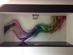Printed Glass Splashback created by Seein. www.seein.com.au