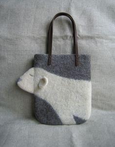 羊毛フェルトのバッグ*sawawa
