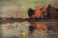 Twilight. Moon. - Isaac Levitan