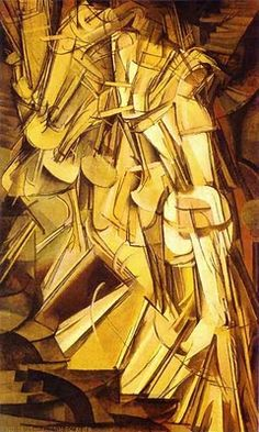 "REPIN    How is this movement? ""Nude Descending a Staircase"" by Marcel Duchamp Cubism... Rhythm & Movement, Principles of Design"