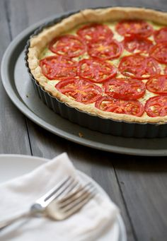 Margherita Tart!  Looks yummy, thank you love and olive oil!